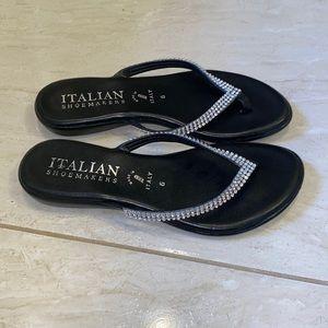 Italian shoemakers black sandals